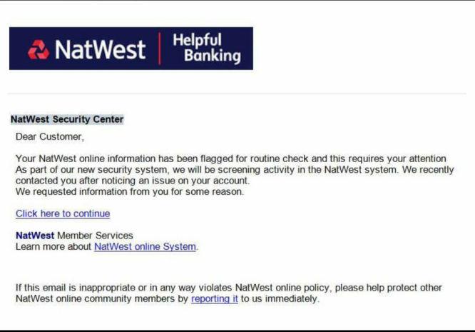 Gaco Beware Of Natwest Scam